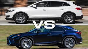 2016 lexus rx 350 vs 2016 lincoln mkx vs 2016 lexus rx 450h youtube