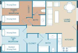 Apartments Floor Plan Apartment Floor Plan Tropicana Villas Santa Barbara