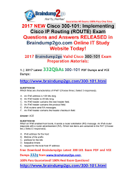 Route Map Cisco by June 2017 New Braindump2go 300 101 Pdf And Vce Dumps 332q Version