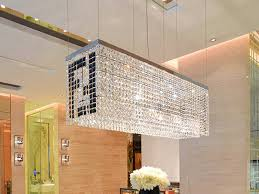 Dining Room Crystal Chandeliers Modern Contemporary Luxury Linear Rectangular Double F Island