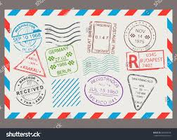 post stamp flat cartoon set letter stock vector 669406678