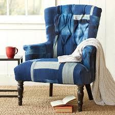 redford unique blue kilim patchwork chair