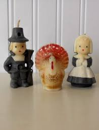 pilgrim candles thanksgiving vintage 1960s pilgrim candles thanksgiving decor my