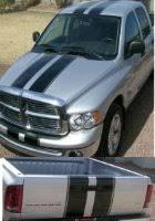 dodge truck racing amazon com dodge ram 9 wide truck racing stripes with pinstripe