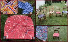 rempailler une chaise rempailler une chaise avec du tissu impressionnant le des