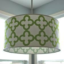 Shade Pendant Light Quatrefoil Drum Shade Pendant Light School Of Decorating