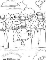 biblerhymes u0027 zacchaeus u2013 coloring book u2013 biblerhymes