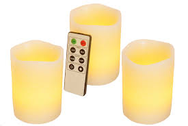 Electric Candles For Windows Decor Decorating Mooncandles 3 Vanilla Scented Wax Flameless Candles