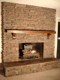 fireplace outstanding stacked stone fireplace for home design