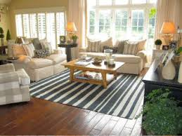 Black White Striped Rug Beach House Striped Cotton Dhurry