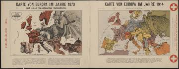 World War 1 Map Of Europe Drawn By German Graphic Artist Walter Trier This Map From 1914