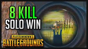 pubg youtube gameplay 8 kill solo win pubg gameplay youtube