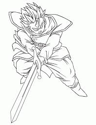 coloring pages of dragon ball z characters aecost net aecost net