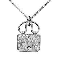 white gold necklace pendants images Hermes constance charm diamond white gold pendant necklace for jpg