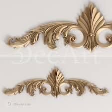 baroque ornament for cnc