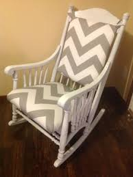 Rocking Chair Cushions For Nursery Just Refinished This Rocking Chair With A White Wash Paint