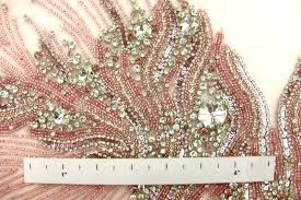 colette pink crystal embroidered tulle bodice b u0026j fabrics