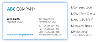 Tips For Designing A Business Card Top Five Mistakes To Avoid When Designing International Business