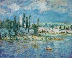 landscape with thunderstorm vetheuil 1880 1880 claude monet