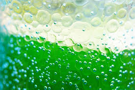 water bottle with water and bubbles and green color download