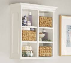 Open Wall Cabinets Plain Bathroom Wall Storage Baskets Love The Thicker Shelves And