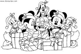 minnie mouse christmas coloring pages 4