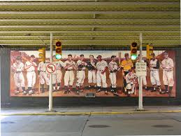 dullroar pittsburgh pirates mural baseball player mural