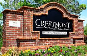 greenville sc apartment photos videos plans crestmont at property sign at the crestmont at thornblade apartments in greenville sc