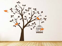 bird wallpaper home decor wallpaper ideas bedroom tree with birds and butterflies trees and
