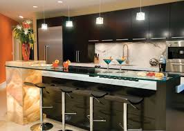 bar awesome curved stone prefab kitchen island with gray