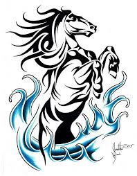 tribal horse tattoo designs tattoo collection