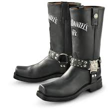 buckle biker boots men u0027s jack daniel u0027s regular harness boots black boots shoes