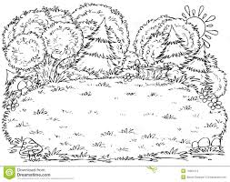 11 images of black and white forest coloring page black and