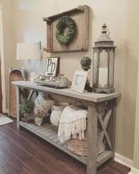 Living Room Wall Table Modified Whites Rustic X Console Table And Used Minwax