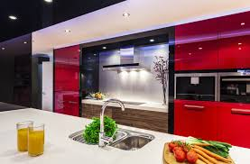 gloss kitchen cabinets stylish contemporary kitchens dream modern homes