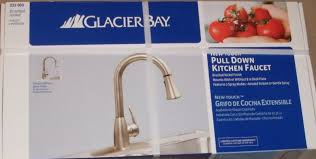 glacier bay pull down kitchen faucet brushed nickel 233 969 ebay