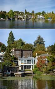 this house for a bachelor sits on the waterfront in seattle