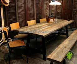 industrial style table with plank top wilsonsyard com