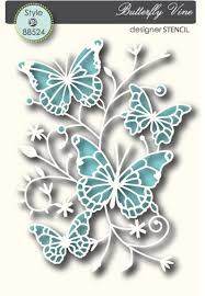 memory box stencil butterfly vine 5 49 dies sts and