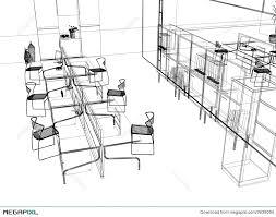 the modern office sketch illustration 3639094 megapixl
