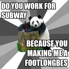 Pick Up Line Panda Meme - chat up line ever