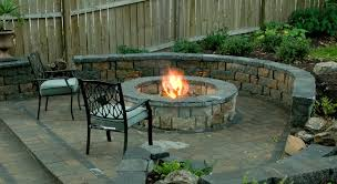 brick patio designs with fire pit christmas lights decoration
