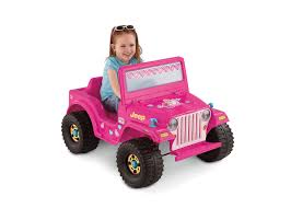 jeep girls fisher price power wheels barbie jeep 6 volt battery powered ride
