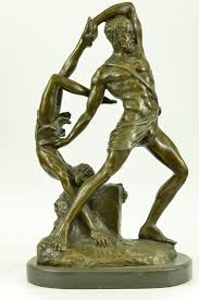 bronzioni bronzioni signed greek god wrestling bronze sculpture