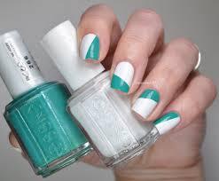 essie summer white u0026 green simple geometric nails lacquered bits