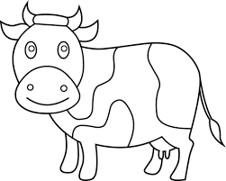 cow clipart black n white pencil and in color cow clipart black