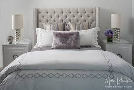 Tufted Wingback Headboard Gray Linen Tufted Wingback Headboard With Worlds Away