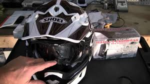 motocross helmet goggles oakley crowbar mx goggle review and helmet fitment youtube