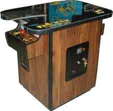 Cocktail Arcade Cabinet Kit Pac Man Videogame By Midway Manufacturing Co