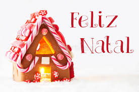 gingerbread house white background feliz natal means merry